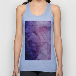 Violet - Watercolor Painting in Ultra Violet Purple and Pink Unisex Tank Top