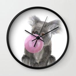 Bubble Gum - Koala Wall Clock