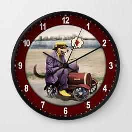 Barkin' Down the Highway! Wall Clock