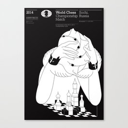 World Chess Championship Match Canvas Print