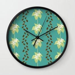 Coffee Bean Dreams (in Teal) Wall Clock