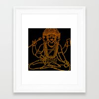 hindu Framed Art Prints featuring Hindu by Littlefox