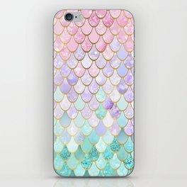 Iridescent Mermaid Pastel and Gold iPhone Skin