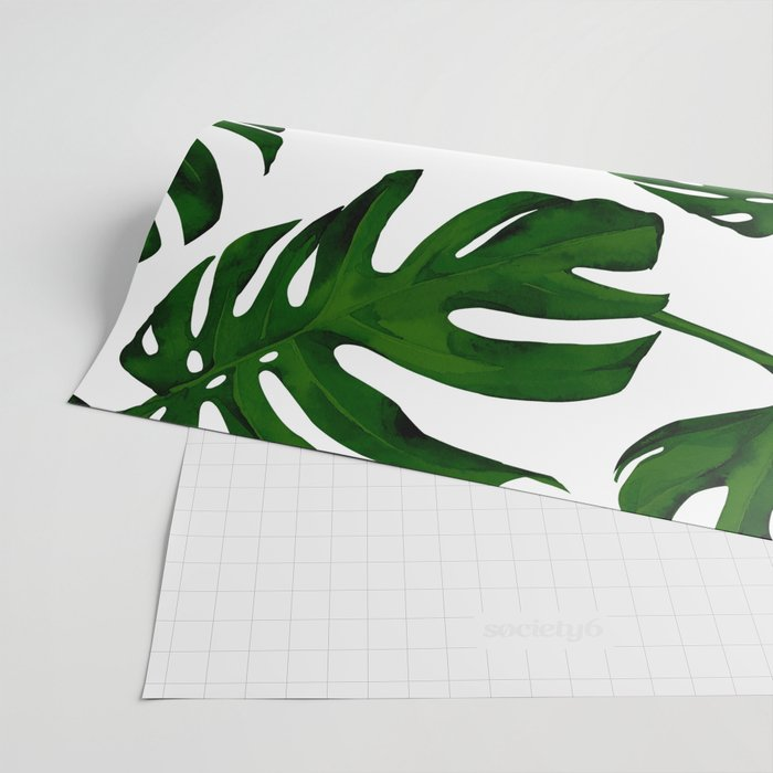 Simply Tropical Palm Leaves in Jungle Green Wrapping Paper