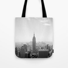 Manhattan - Empire State Building Panorama   B/W Tote Bag
