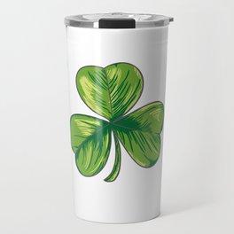 I Love Beer St. Patrick's Day Shamrocks Funny Travel Mug
