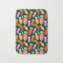 Carrots not only for bunnies - seamless pattern Bath Mat