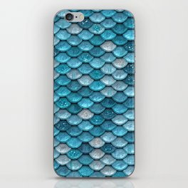 Luxury Turquoise Mermaid Sparkling Glitter Scales - Mermaidscales iPhone Skin