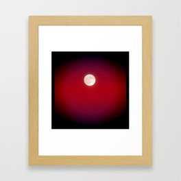 The Moon In Red Framed Art Print