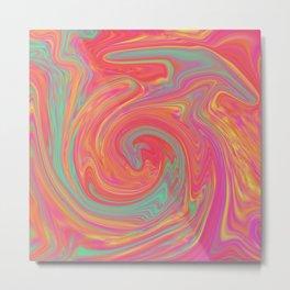 Bubble Gum Trip Metal Print