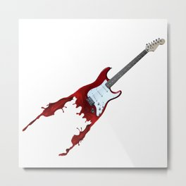 Electric guitar red music rock n roll sound beat band gift idea Metal Print