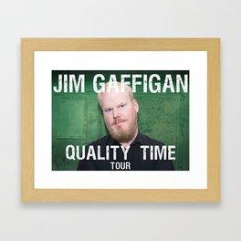 Jim Gaffigan quality time tour 2019 ca2 Framed Art Print