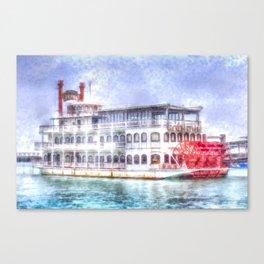 New Orleans Paddle Steamer Art Canvas Print