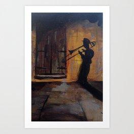 Blues Shadow Art Print