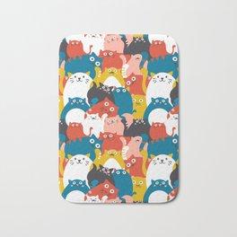 Cats Crowd Pattern Bath Mat