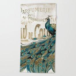 Peacock Jewels Beach Towel