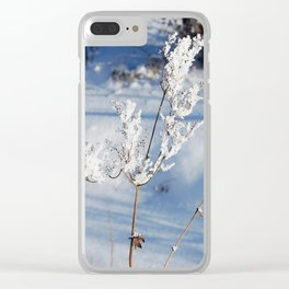 Winter sprig Clear iPhone Case