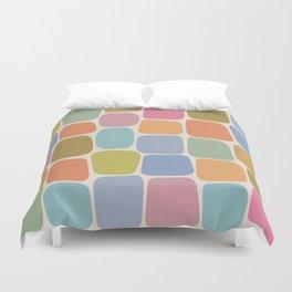 Minimal Blocks - Rainbow Duvet Cover