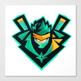 green ninja Canvas Print