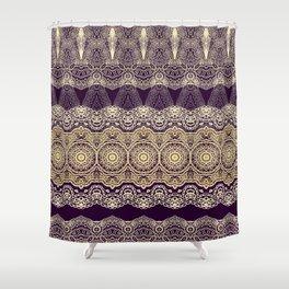 Oriental lace ornament Shower Curtain
