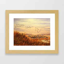 Goose Hunting Companions Framed Art Print