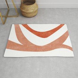 Terracotta Art Print 5 - Terracotta Abstract - Modern, Minimal, Contemporary Print - Burnt Orange Rug