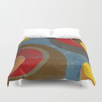 lichtenstein Duvet Covers featuring Crowd by Metron