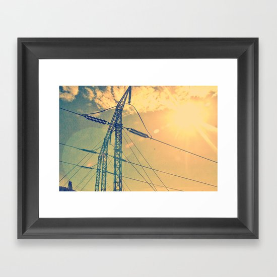 Holding The Power Framed Art Print