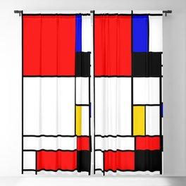 Bauhouse Composition Mondrian Style Blackout Curtain