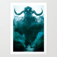 shadow of the colossus Art Prints featuring The Colossus by kriztille