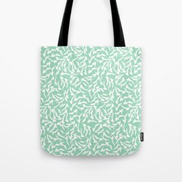 Shoes White on Mint Tote Bag