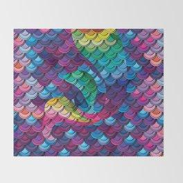 Little Mermaid Scales Pattern Design Throw Blanket