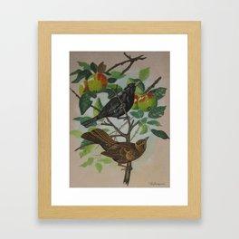 Still Life Pair of Birds Framed Art Print