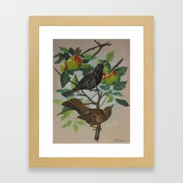 Still Life Pair of Birds Framed Art Print