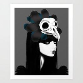 dark bird (lady bird) Art Print