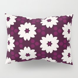 Abstract Decorative Pattern 28 - Puple red, White Pillow Sham
