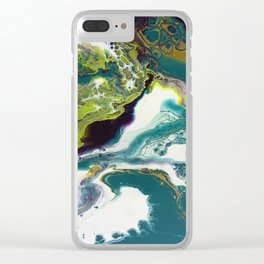 Peacock Island Clear iPhone Case
