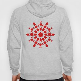 Red Arabesque Hoody