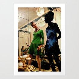 Woman (In Mirror) Art Print