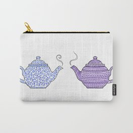 Patterned Teapots Carry-All Pouch