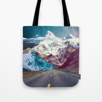 jenna kutcher Tote Bags featuring The Last Stretch by Jenna Davis Designs