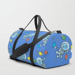 little astronaut and books Duffle Bag