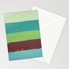 Abstract Painting - Horizontal Stripes Stationery Cards