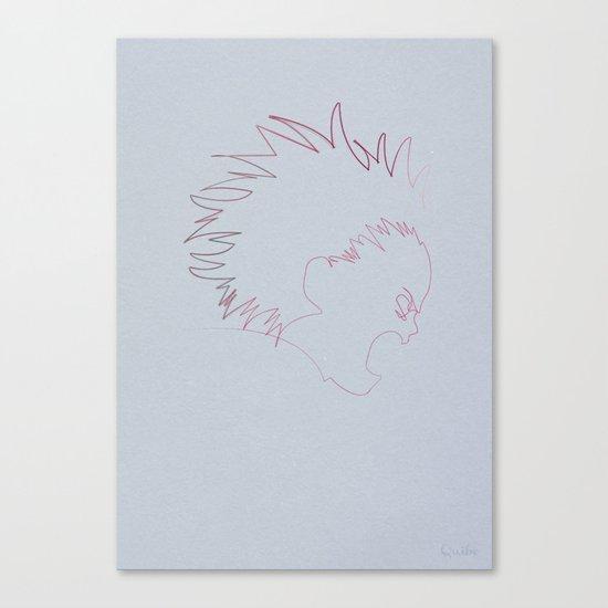One Line Akira: Tetsuo Shima (specimen 41) Canvas Print