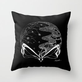 Fragile (Negative) Throw Pillow