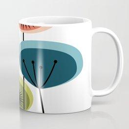 Mid Century Flowers Coffee Mug