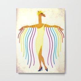 Erte Unicorn Metal Print