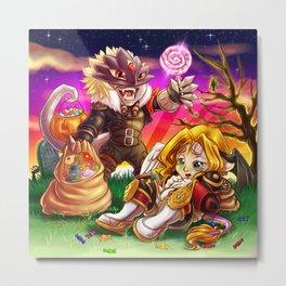 Beelzemon and Lucemon - Sweet Little Sins Metal Print