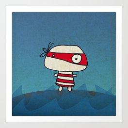 Red Pirate Art Print