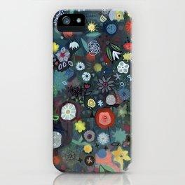 carré fleuri imaginaire 1 iPhone Case